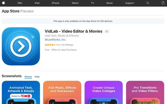 Editor de vídeo VidLab