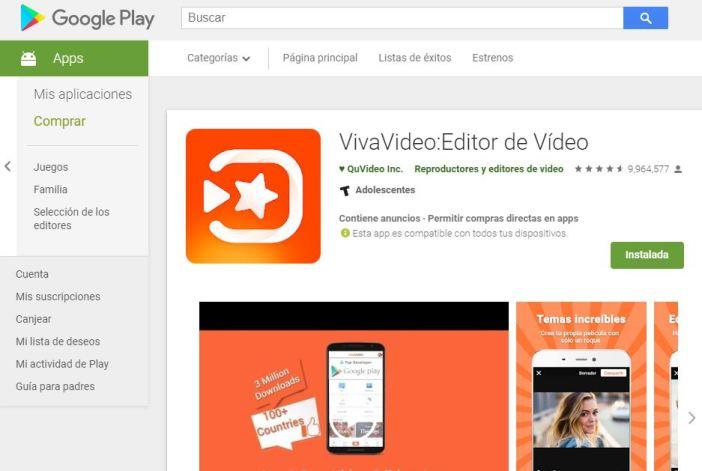 Editor de vídeo VivaVideo