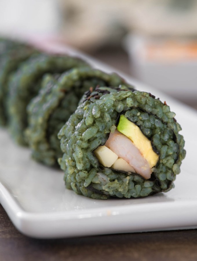 Hulk Maki With Spicy Mayo (Healthy Sugar Free Sushi Rolls!)