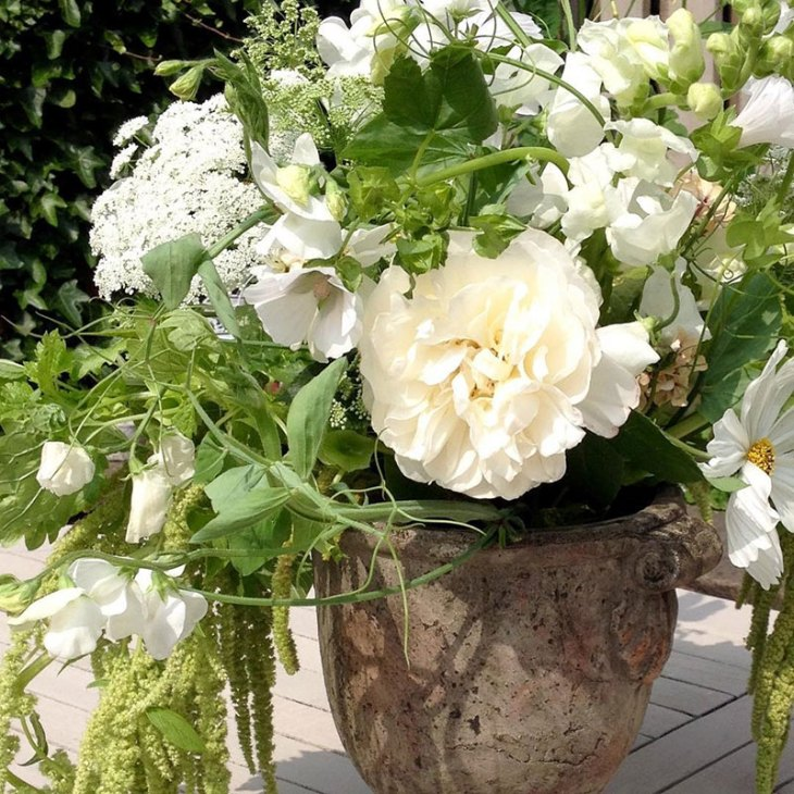 Whites and greens brides bouquet