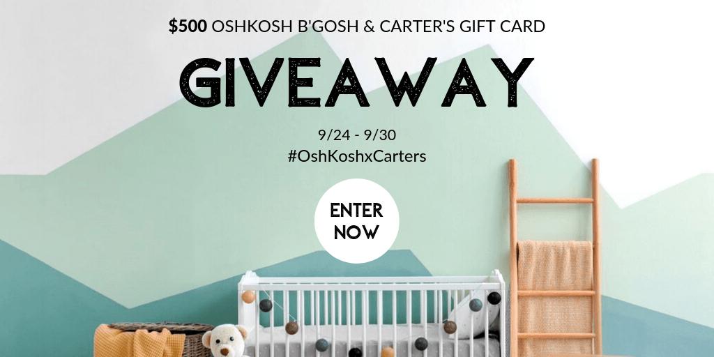 Win a $50 OshKosh B'Gosh or Carter's Gift Card!