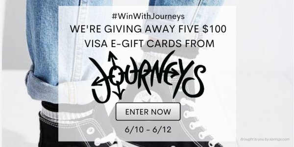 👟Win a $100 Visa Gift Card from Journeys