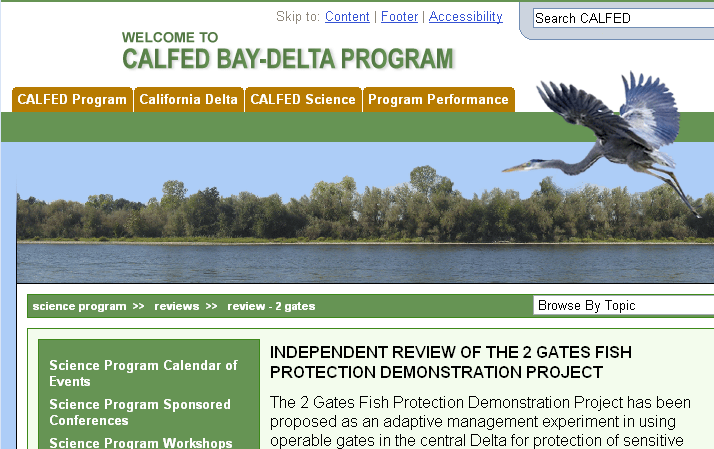 CALFED bay-delta program web site