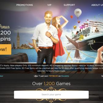 Casino Cruise homepage