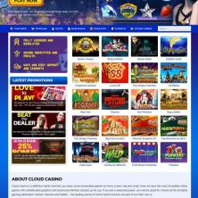 Cloud Casino homepage