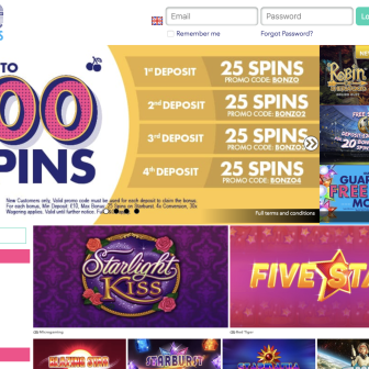 Bonzo Spins Casino - Homepage