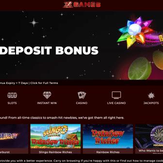 X Factor Games Casino - Homepage