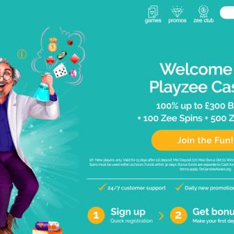 PlayZee Casino - Homepage