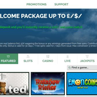 Pocket Casino - homepage