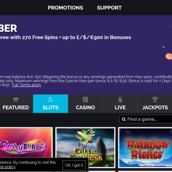Royal Swipe Casino Homepage
