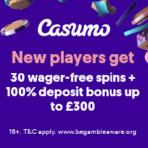 Casumo Casino - 30 Free Spins No Deposit, No Wagering!