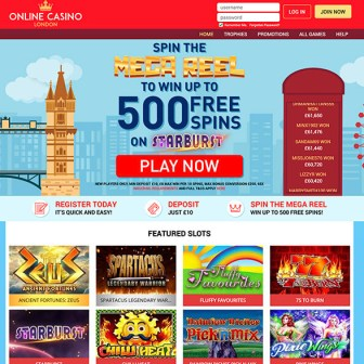 Online Casino London -- Homepage