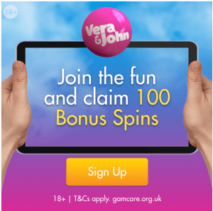 Vera and John Casino - 100 Free Spins, Keep What You Win!