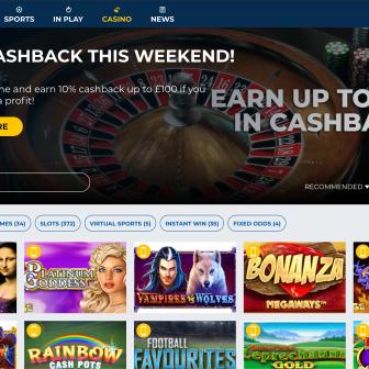 StarSports Bet Casino - Homepage