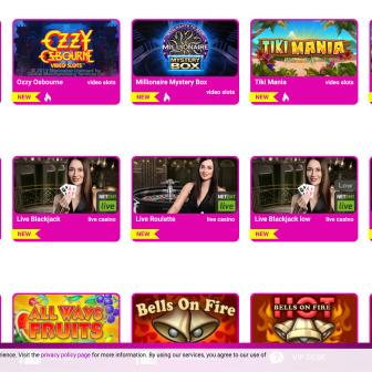 No Bonus Casino - Games