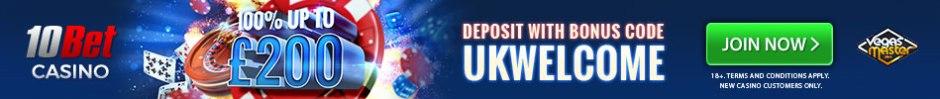 10Bet Casino bonus banner