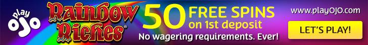 Play OJO Casino free spins bonus Rainbow Riches