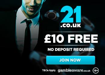 21.co.uk no deposit bonus