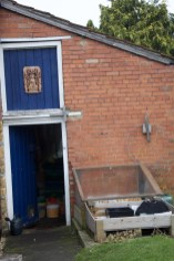 packing and storage shed with cold frame
