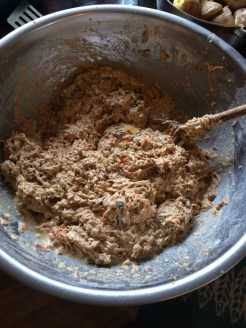 apple, parsnip and carrot muffin mixture