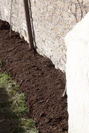 the mulch levelled