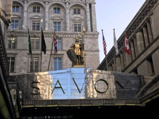 arriving at the Savoy