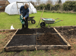 Charles adding Dalesfoot compost