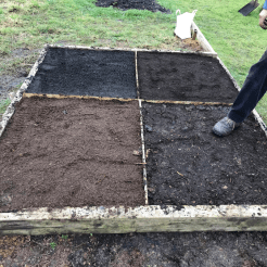 levelling and firming the beds