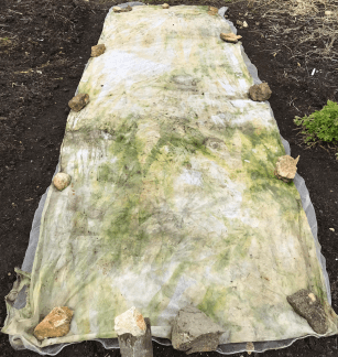 a temporary cover with old fleece