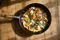 Summer vegetable, coconut and lime curry