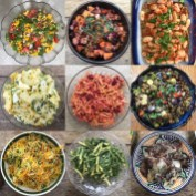 some of the food I make for course lunches