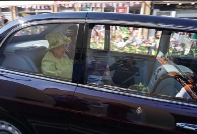 Queen on Bruton high street - photo: Simon Taylor
