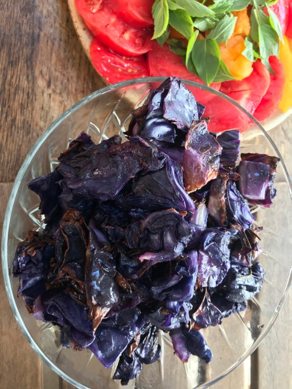 roasted red cabbage salad
