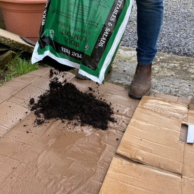 emptying compost