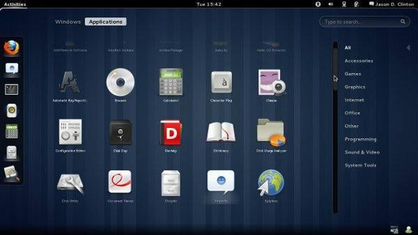 Búsqueda en GNOME 3
