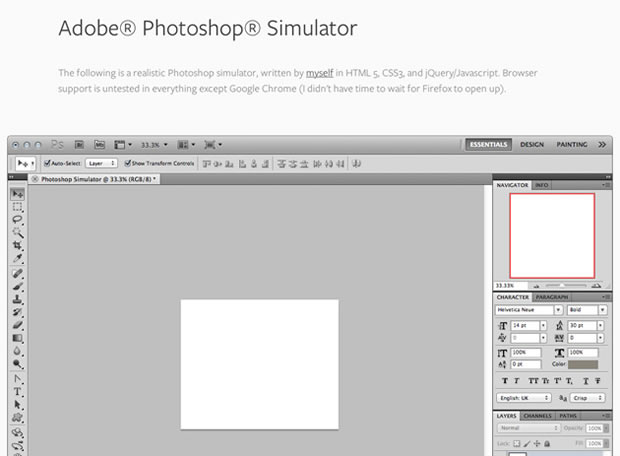 Simulador online de Adobe Photoshop
