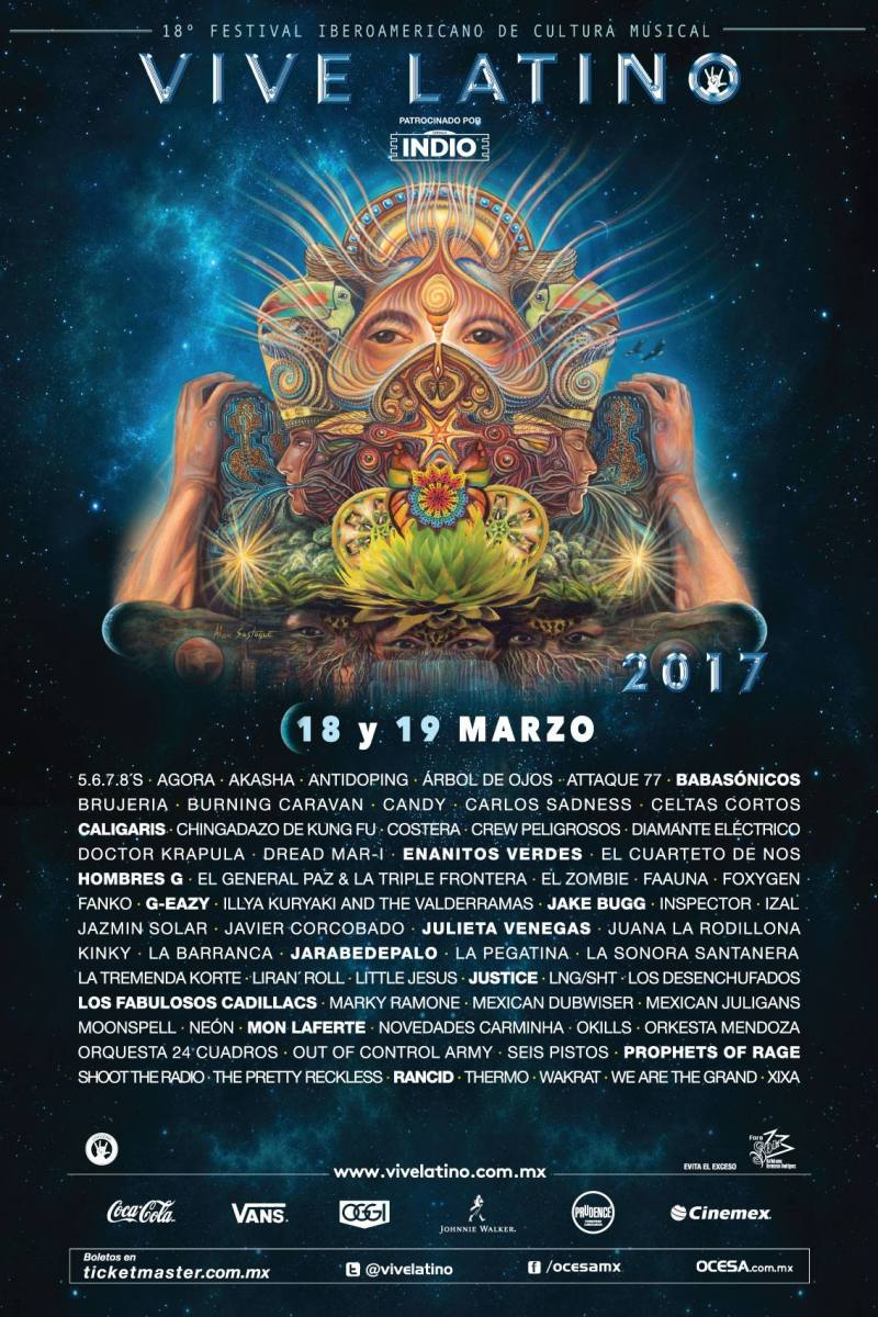 Este será el cartel del Vive Latino 2017