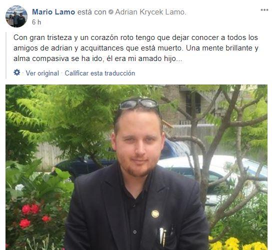 Mario Lamo mensaje