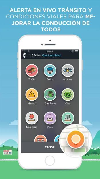 Funciones de Waze