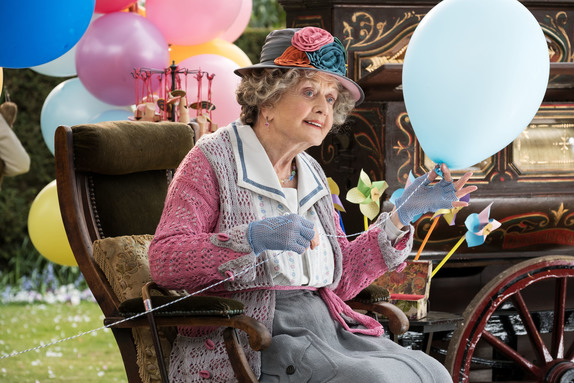 Angela Lansbury is the Balloon Lady in Disney's MARY POPPINS RETURNS.