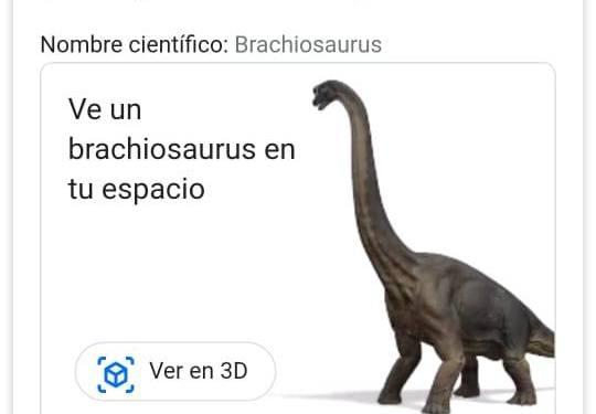 llegan dinosaurios al buscador de google