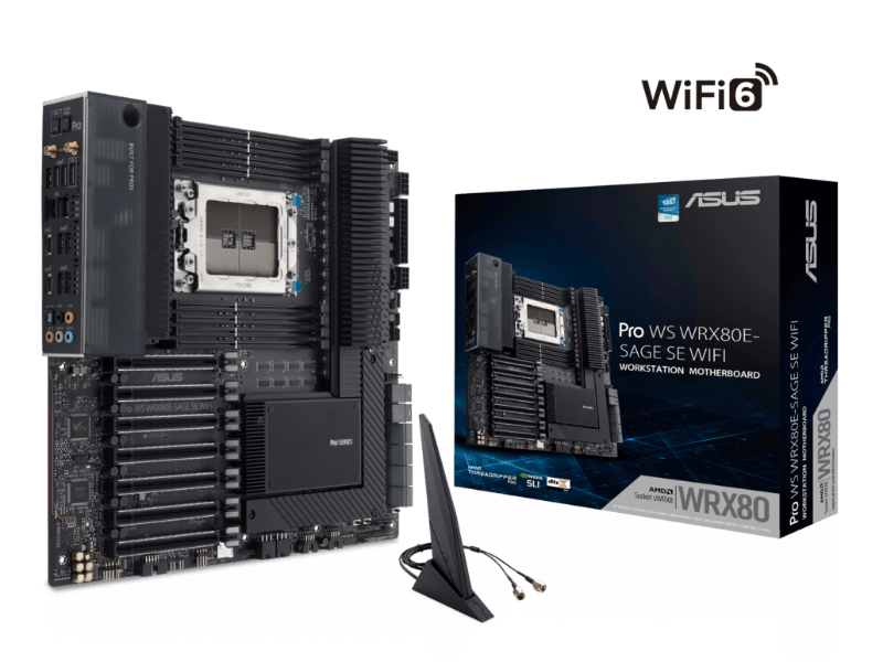 ASUS anuncia motherboard WRX80 workstation para AMD Ryzen Threadripper PRO