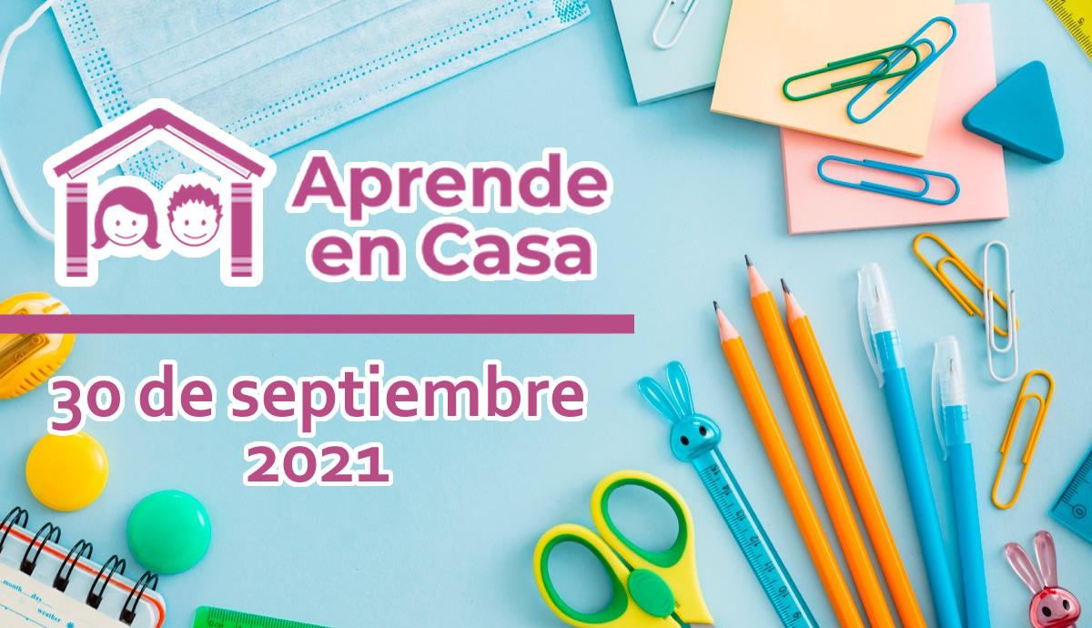 30 de septiembre aprende en casa