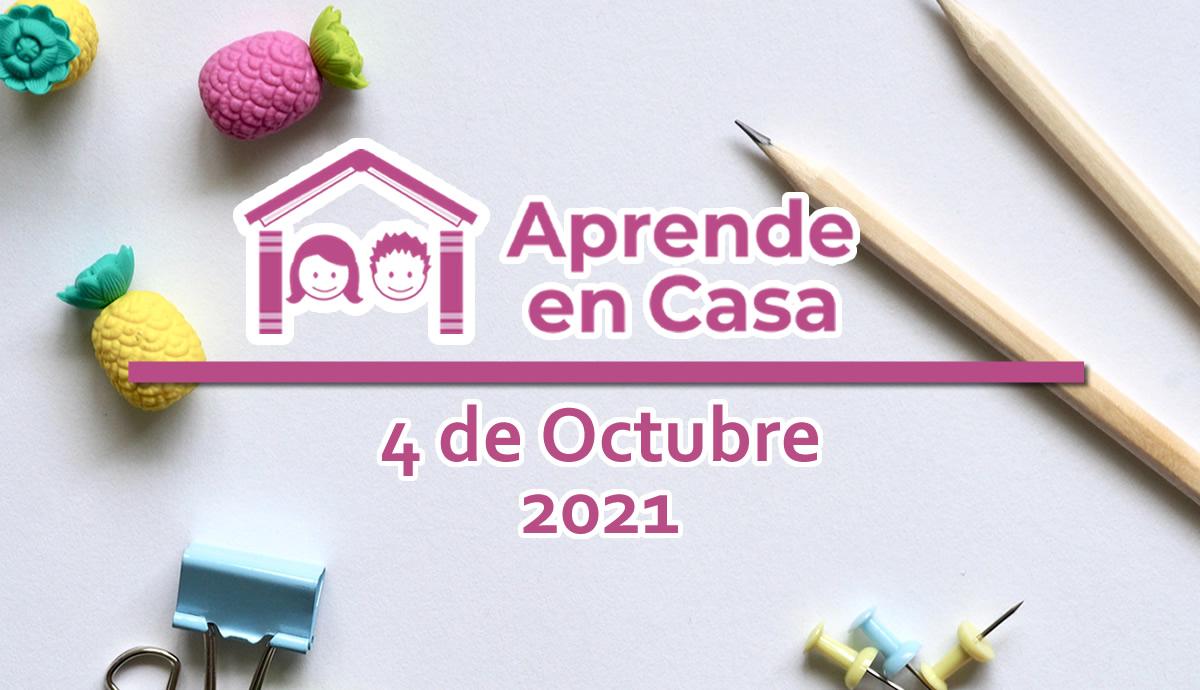 4 de octubre aprende en casa