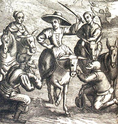 Don Quijote, Dulcinea y Sancho Panza