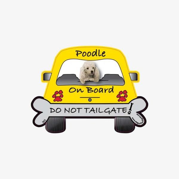 Poodle On Board Car Magnet