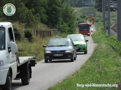 Kurzfristiger Verkehrsstillstand auf Umleitungsstrecke B9 | Foto: Berg-und-Naturwacht.org