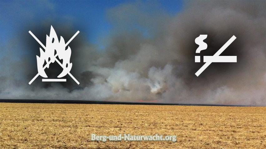 Rauch- und Feuerverbot zum Schutze des Waldes wegen Brandgefahr