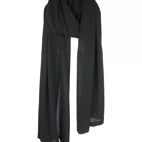 solidblack-short-sjaal
