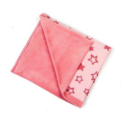 baby-fleece-dekentje-roze-sterren